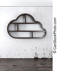 de madera,  interior, nube