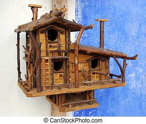 de madera, jaula