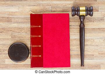 de madera, ley, martillo