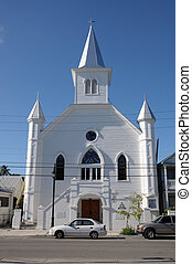 de madera, llave florida, oeste, iglesia