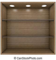 de madera, luces, built-in, vidrio, estantes