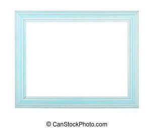 de madera, marco de la foto, rectangular