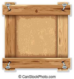 de madera, marco