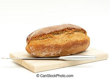 de madera, mentiras, tabla, recientemente, horneó pan