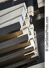de madera, metal laminado, paletas