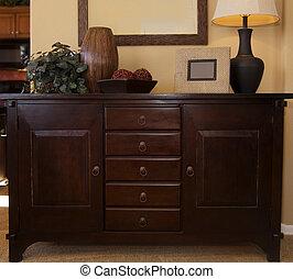 de madera, muebles del dormitorio