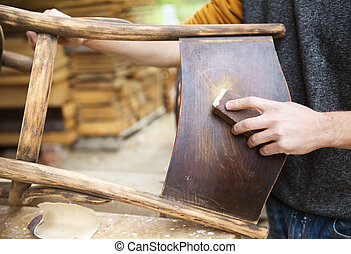 de madera, muebles, restauración