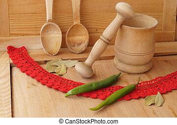 de madera, objetos