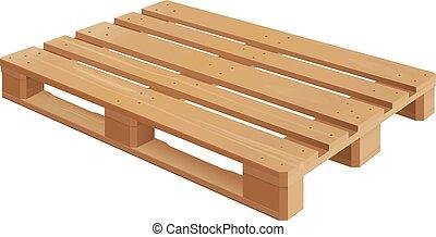 de madera, paleta