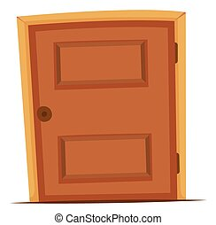 de madera, perilla, puerta, redondo