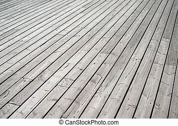 de madera, perspectiva, piso