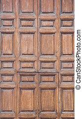 de madera, portal.