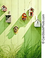 de madera, primavera, pared
