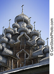 de madera, pueblo, rusia, 'kizhi'