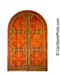 de madera, puertas