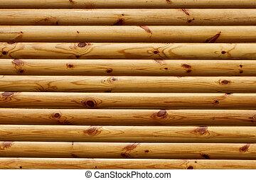 de madera, pulido, paralelo, troncos
