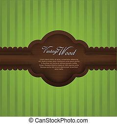de madera, realista, marco, vendimia