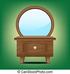 de madera, refleje gabinete
