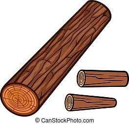 de madera, registro