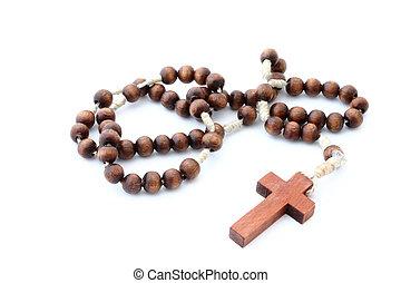 de madera, rosario, en, wh