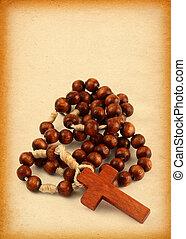 de madera, rosario