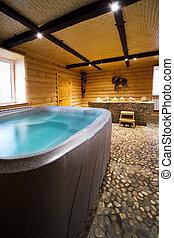 de madera, sauna