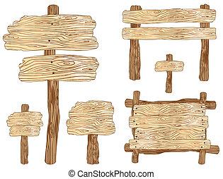 de madera, señales