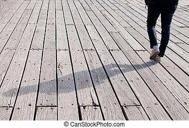 de madera, Senda, ambulante, joven, Adulto