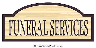 de madera, servicios, funeral, almacenar la muestra