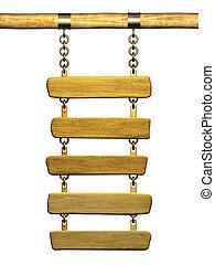 de madera, signboard