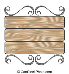 de madera, signboard, tablones