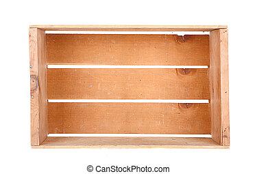 de madera, solo, cajón, aislado