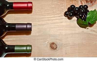 de madera, tabla, botella, vino
