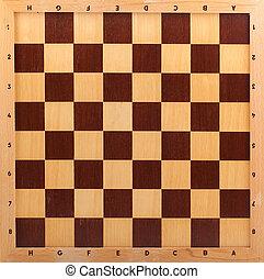 de madera, tablero de ajedrez, aislado, Plano de fondo,...