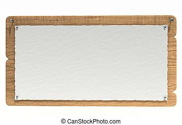 de madera, tablero de anuncios
