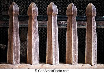 de madera, templo