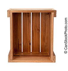 de madera, terminó, abierto, cajón