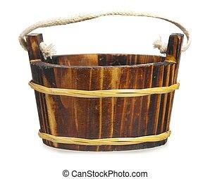 de madera, tina