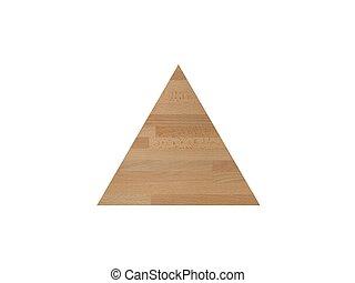 de madera, triángulo