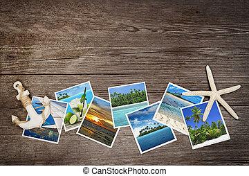 de madera, tropical, plano de fondo, fotos, islas