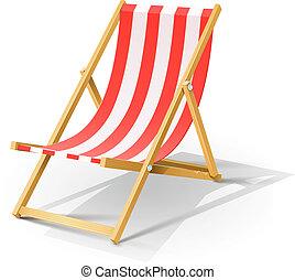 de madera, tumbona, playa