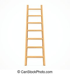 de madera, vector, ladder.