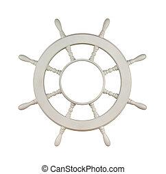 de madera, velero, rueda