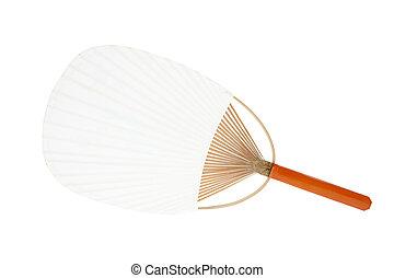 de madera, ventilador papel, japonés