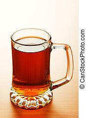 de madera, vidrio, cerveza, tabla