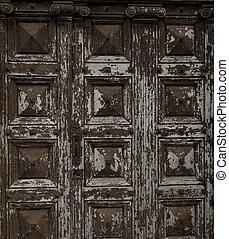 de madera, viejo, grunge, puerta