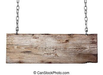 de madera, viejo, signboard