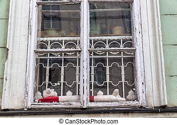 de madera, windows, edificio viejo