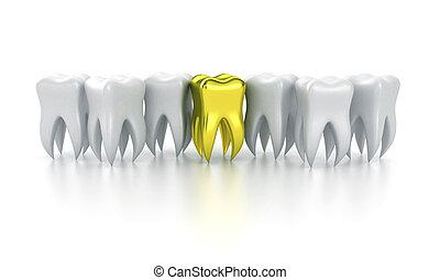 de, menselijke tanden