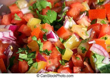 de, mexikanischer salat, gallo, pico